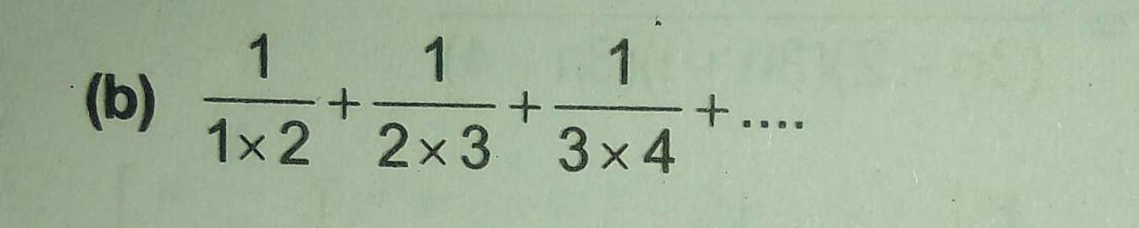 Check here step-by-step solution of '1/1×2+1/2×3+1/3×4+' question at Instasolv!